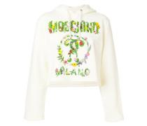 leaf logo print hoodie