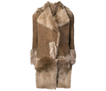 oversized collar shearling coat