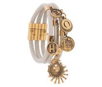 Armband mit goldfarbenen Anhängern