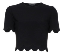 T-Shirt mit Wellensaum