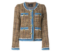 Tweed-Jacke mit Denim-Details