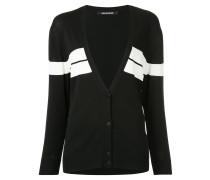 chest stripe oversized sweater