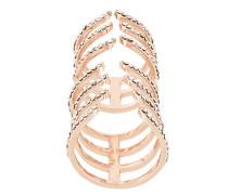 'Hook' Ring mit Kristallen