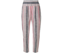 striped straight leg trousers