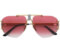 aviator tinted sunglasses
