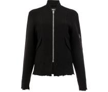 Distressed-Jacke mit Reißverschluss