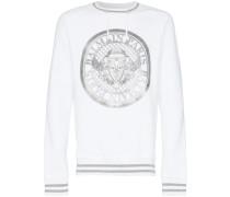 white Coin logo print jumper