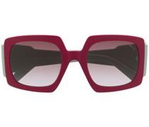 Eckige Sonnenbrille mit Print