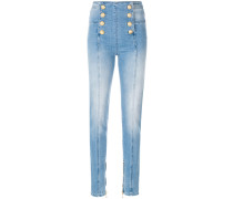 Skinny-Jeans mit Knopfdetails