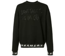 "Sweatshirt mit ""I'm Crazy""-Print"