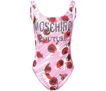 Badeanzug mit Rosen-Print