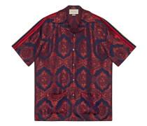 Bowlinghemd mit barockem Muster