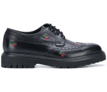 cherry embroidered brogues