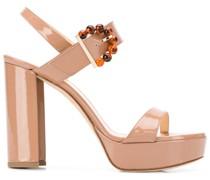 'Tori' Plateau-Sandalen mit Perlen