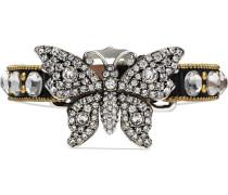 Crystal studded butterfly bracelet