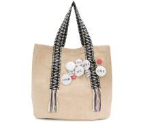 badge embellished shoulder bag