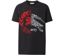T-Shirt mit Kontrastwappen
