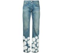 tulle flower jeans short length