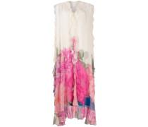 Geblümte Robe mit Rüschen