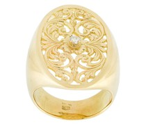 filigree diamond signet ring