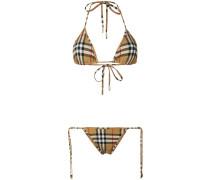 Triangel-Bikini mit Classic-Check