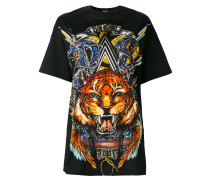 T-Shirt mit Oversized-Tiger-Print