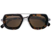Sechseckige Schildpatt-Sonnenbrille
