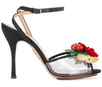 Sandalen mit Blumen-Applikation
