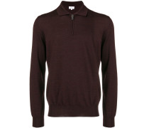 front zipped polo shirt
