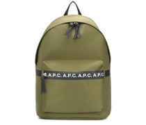 A.P.C. logo tape backpack