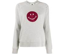 'Flocked Happy' Pullover