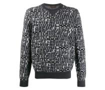 Pullover mit Buchstabenmuster