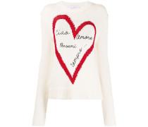 Pullover mit Metallic-Herz