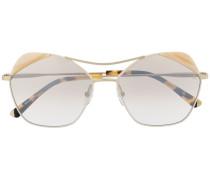 Sonnenbrille mit Kontrastdetails