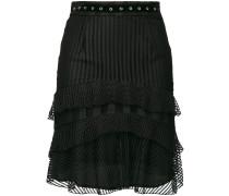 eyelet ruffled skirt