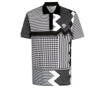multi-print polo shirt