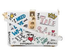 Handtasche mit Graffiti-Print