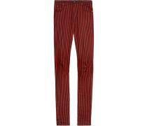 Super-Skinny-Jeans mit Streifen