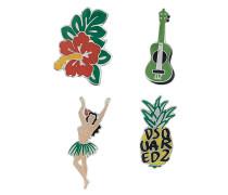 Anstecknadeln mit Hawaiimotiven