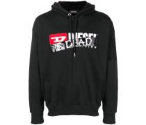 'Is dead' printed hoodie