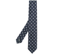 embroidered woven tie