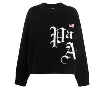 """Sweatshirt mit """"New Gothic""""-Logo"""