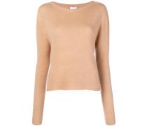 Gerippter Pullover mit Verzierung