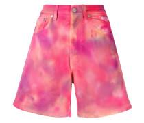 Jeans-Shorts mit Batikmuster
