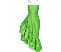 Asymmetrisches Volant-Kleid