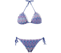 knit triangle bikini set