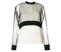 Langer Pullover im Lagen-Look
