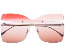 Eckige Sonnenbrille mit Cut-Outs