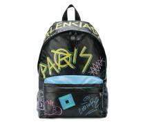 Rucksack mit Graffiti-Print