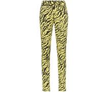 Skinny-Jeans mit Tiger-Print